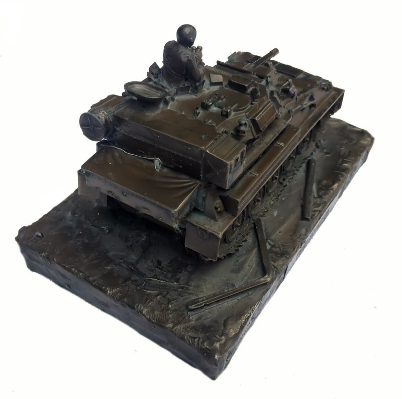 Military Statue - Scorpion FV101 Reconnaissance Vehicle Cold Cast Bronze Military Statue