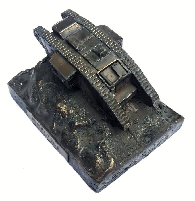 Military Statue - World War One Mark IV Male Tank 1/72 Cold Cast Bronze Military Statue