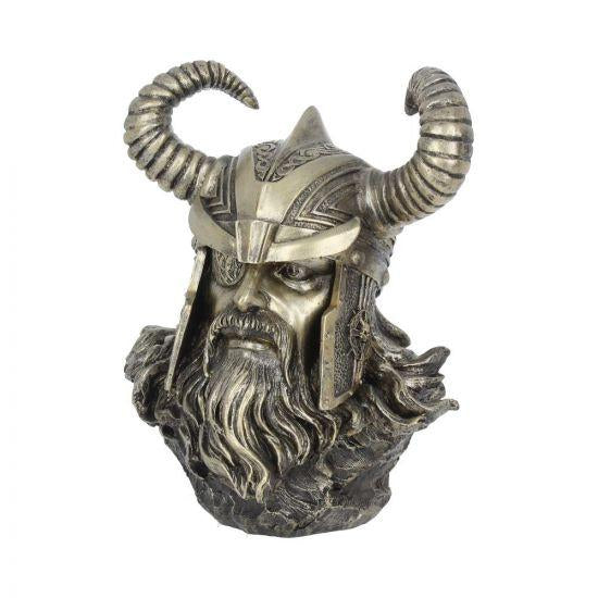 ODIN VIKING Cold Cast Bronze Bust Statue