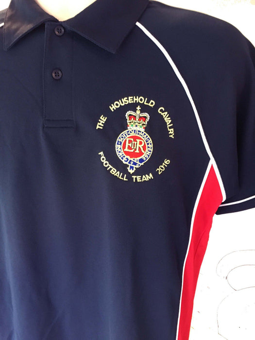 POLO Shirt - The Blues And Royals Performance Polo 'Multi Logo Options Build Your Own Shirt'