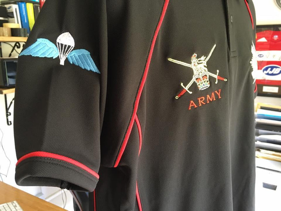 POLO Shirt - The Coldstream Guards Performance Polo 'Multi Logo Options Build Your Own Shirt'