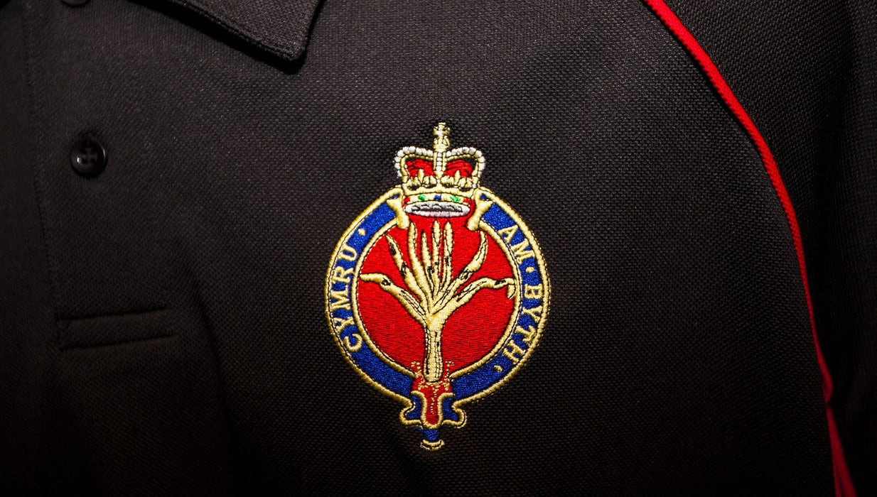 POLO Shirt - Welsh Guards Performance Polo 'Multi Logo Options Build Your Own Shirt'