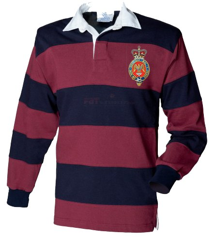 Rugby Shirt - The Blues And Royals Stripe BRB Rugby Shirt