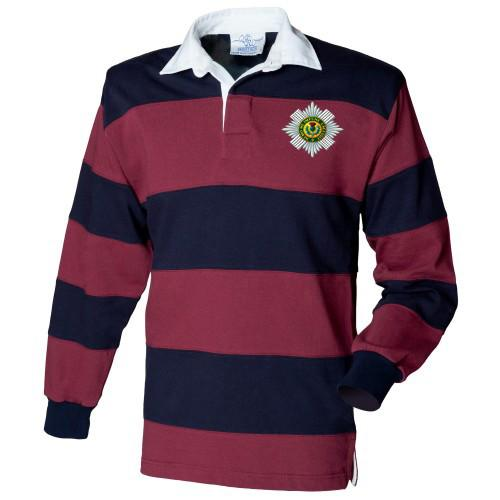 Rugby Shirt - The Scots Guards Stripe BRB Rugby Shirt