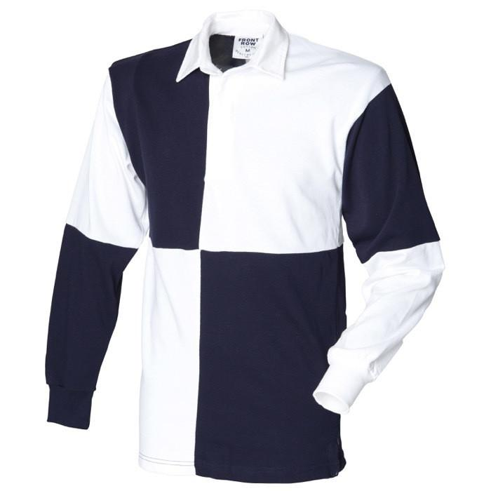 Rugby Shirts - The Blues And Royals Long Sleeve Quartered Rugby Shirt