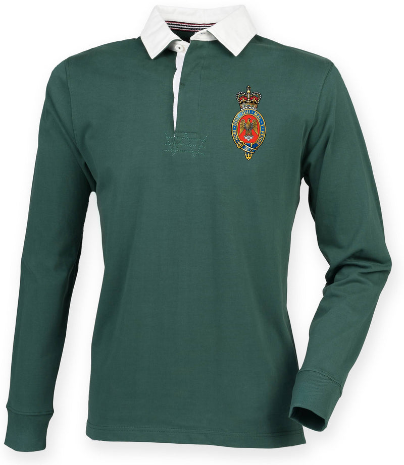 Rugby Shirts - The Blues And Royals Premium Superfit Embroidered Rugby Shirt