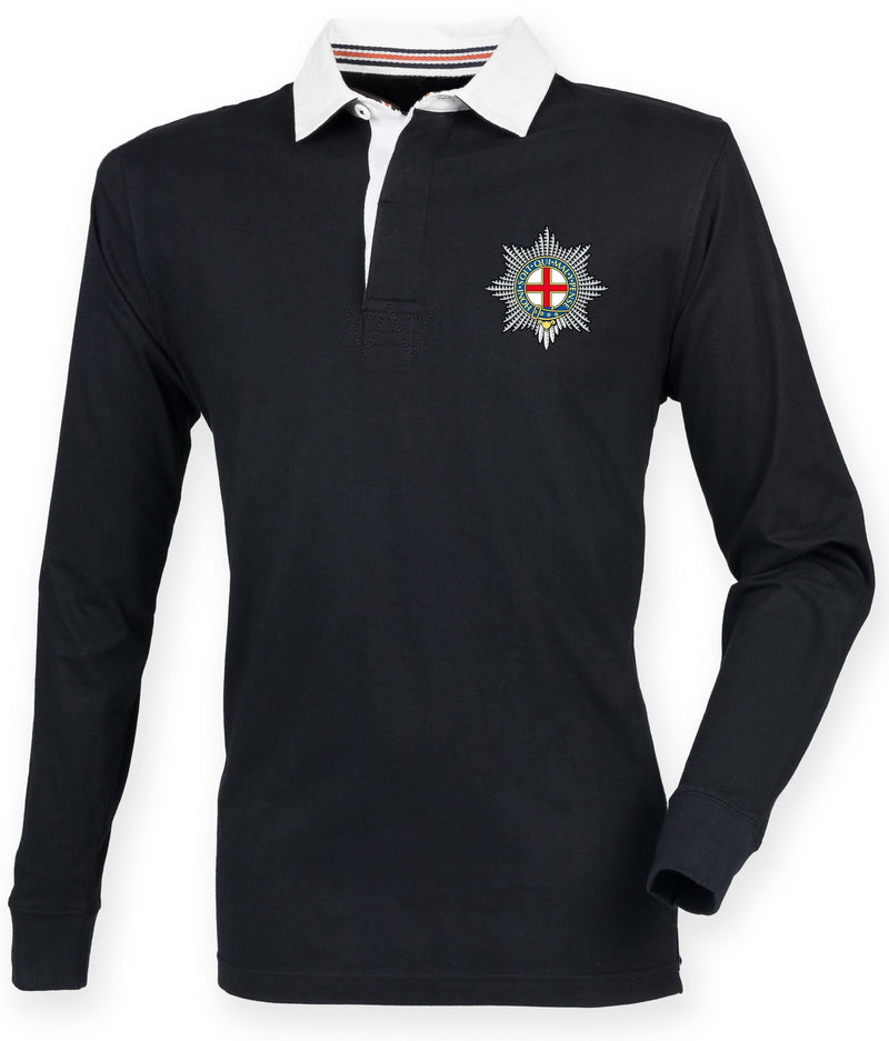 Rugby Shirts - The Coldstream Guards Premium Superfit Embroidered Rugby Shirt