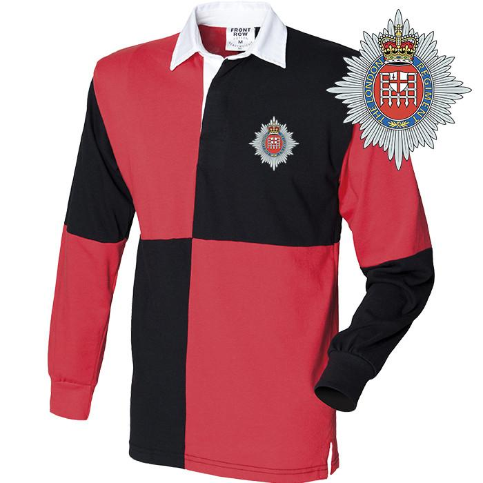 Rugby Shirts - The London Regiment Long Sleeve Quartered Rugby Shirt