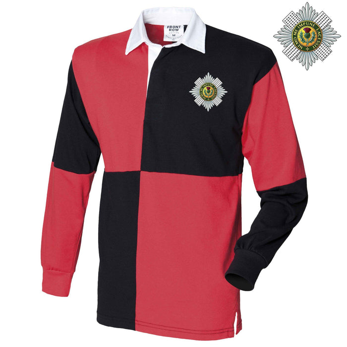 Rugby Shirts - The Scots Guards Long Sleeve Quartered Rugby Shirt