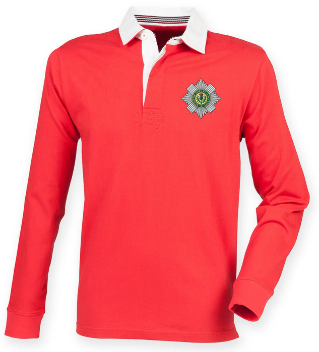 Rugby Shirts - The Scots Guards Premium Superfit Embroidered Rugby Shirt