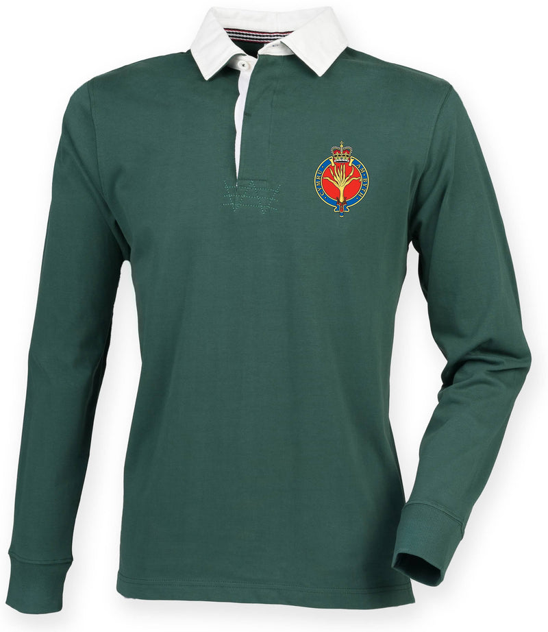 Rugby Shirts - The Welsh Guards Premium Superfit Embroidered Rugby Shirt