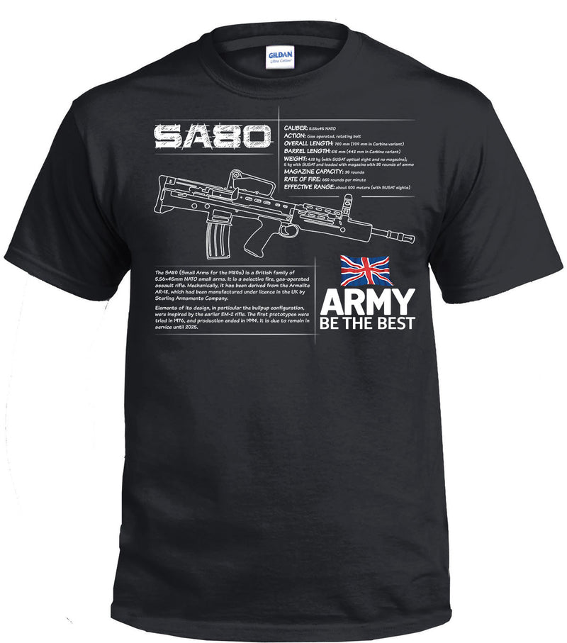 SA80 BRITISH ARMY RIFLE SPEC ARMY Printed T-Shirt