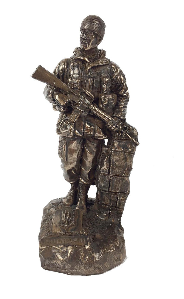 SAS Trooper Soldier Cold Cast Bronze Military Statue
