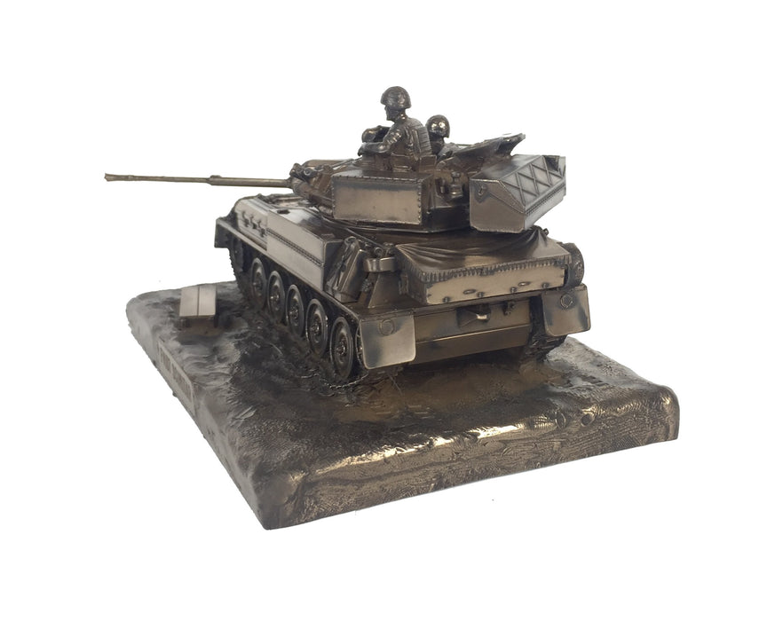 Scimitar FV107 Vehicle Cold Cast Bronze Military Statue