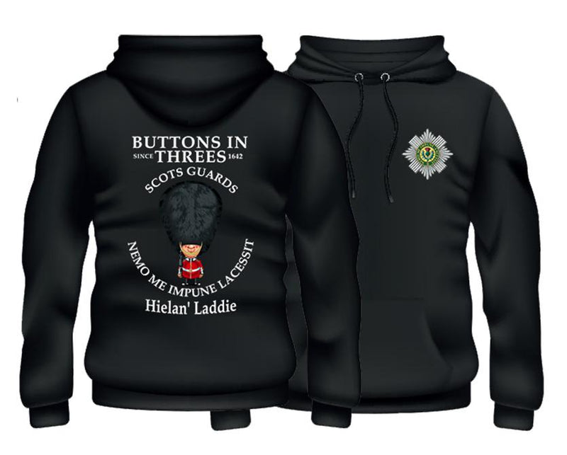 SCOTS GUARDS Buttons In One's Double Side Printed Hoodie