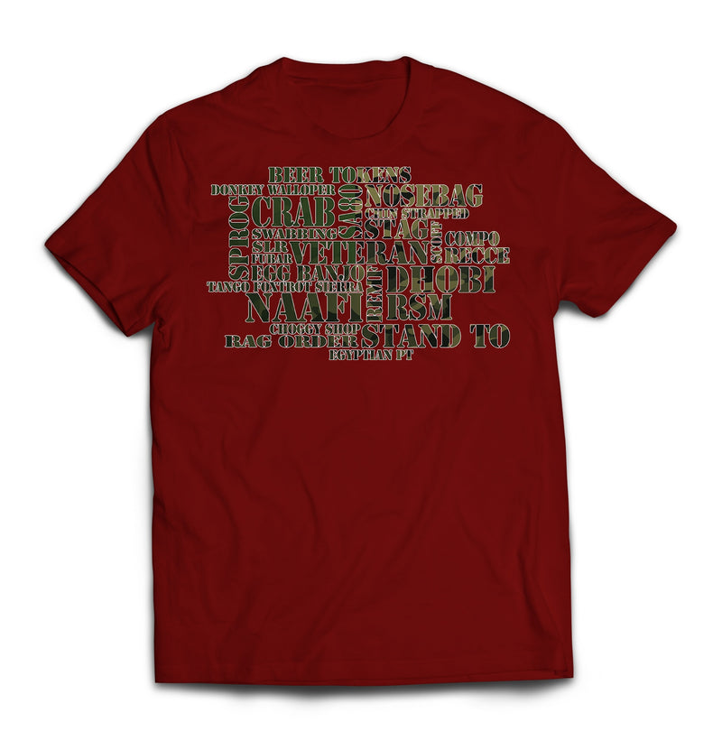 T-Shirt - ARMY JARGON Printed T-Shirt