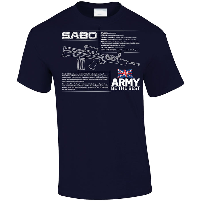T-Shirt - SA80 BRITISH ARMY RIFLE SPEC ARMY Printed T-Shirt