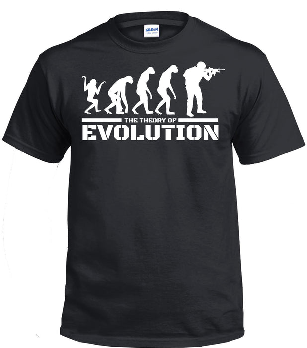 THE THEORY OF EVOLUTION Printed T-Shirt
