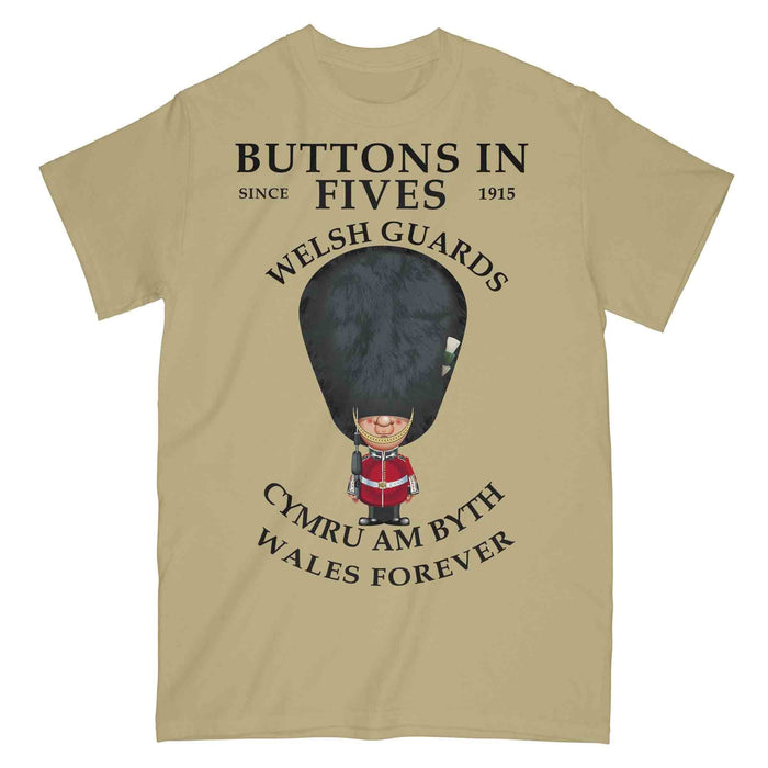 WELSH GUARDS BUTTONS IN FIVES Military Printed T-Shirt