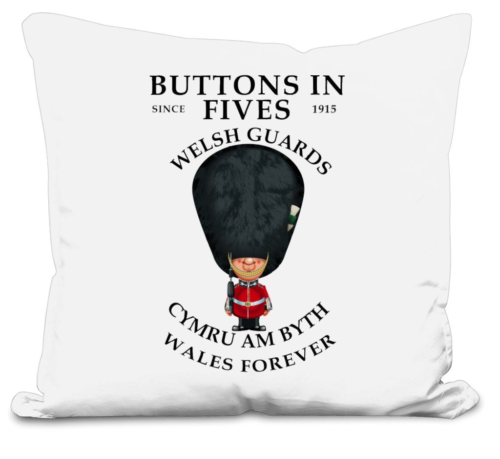 Welsh Guards Buttons in Fives Cushion Cover