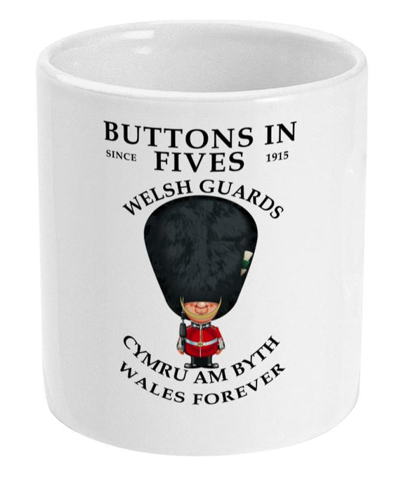 Welsh Guards Buttons in Fives Ceramic Mug