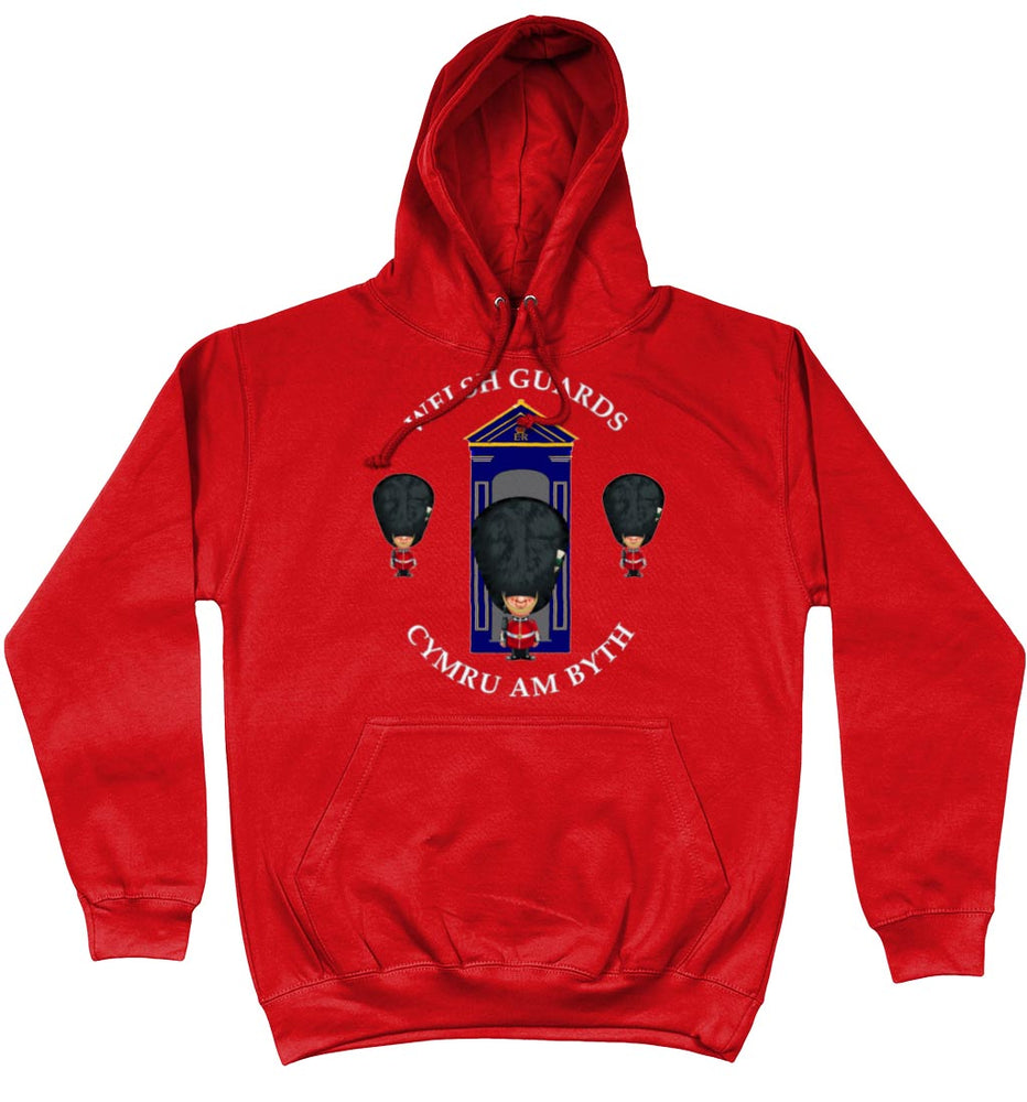 WELSH GUARDS ON SENTRY Front Printed Hoodie