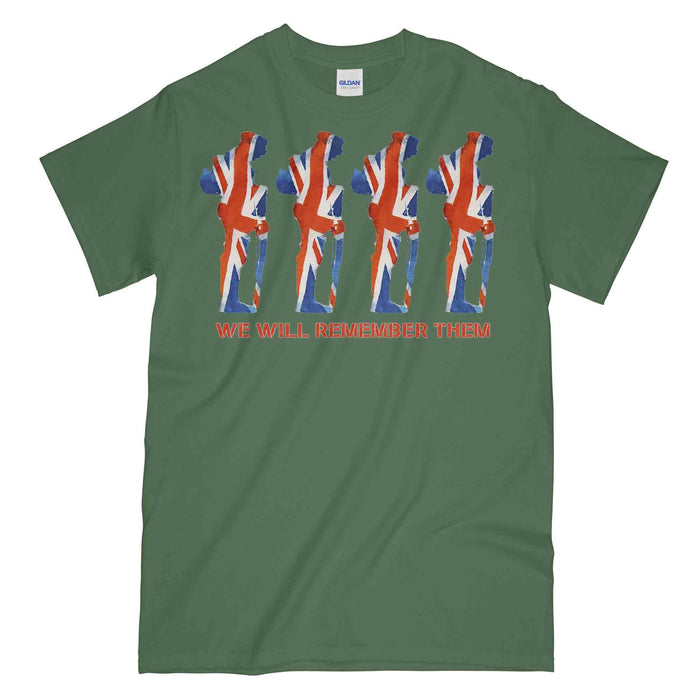 WW1 Union Flag Tommy Printed T-Shirt
