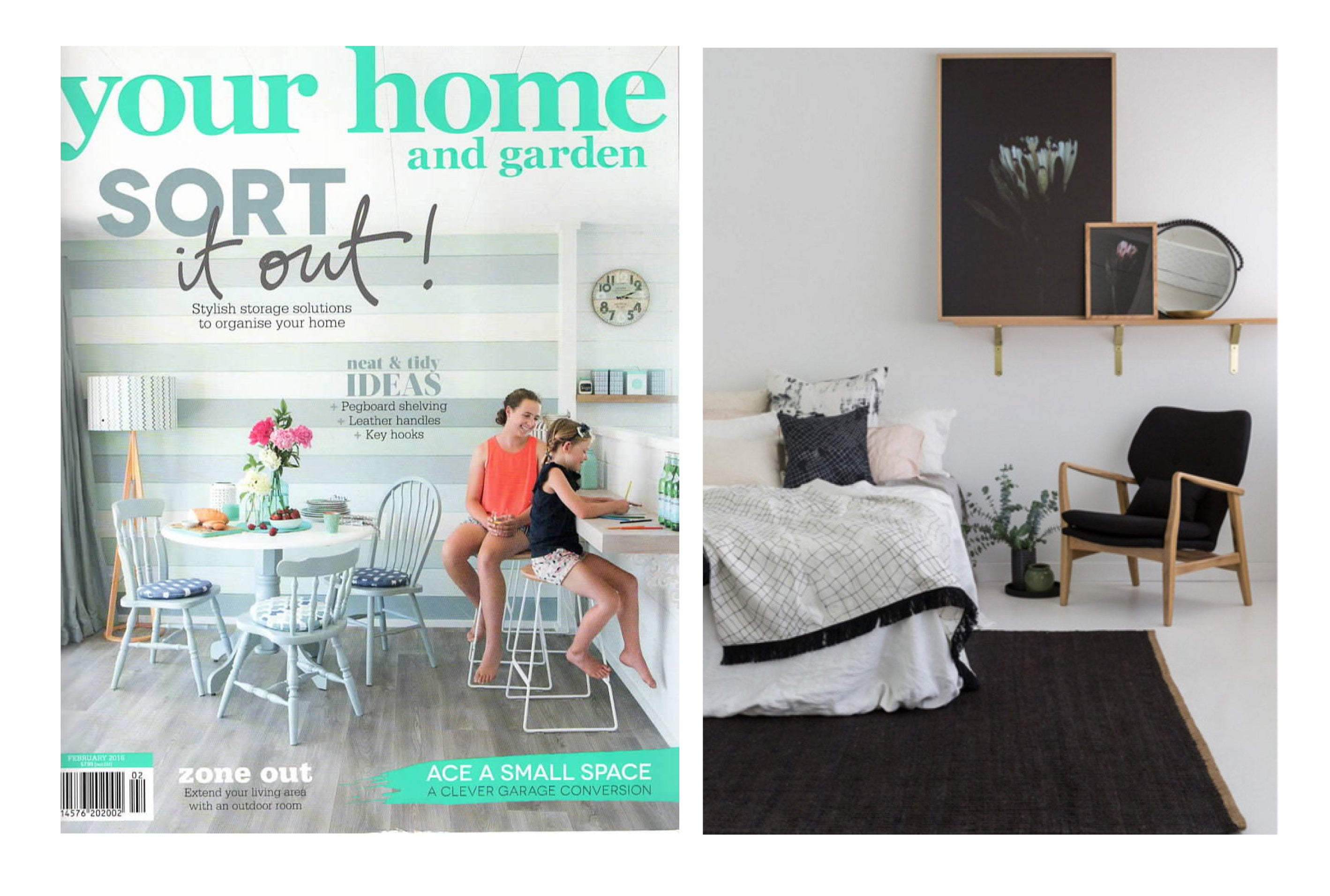 FRESH START BEDROOM - YOUR HOME & GARDEN MAGAZINE - FEBRUARY 2016