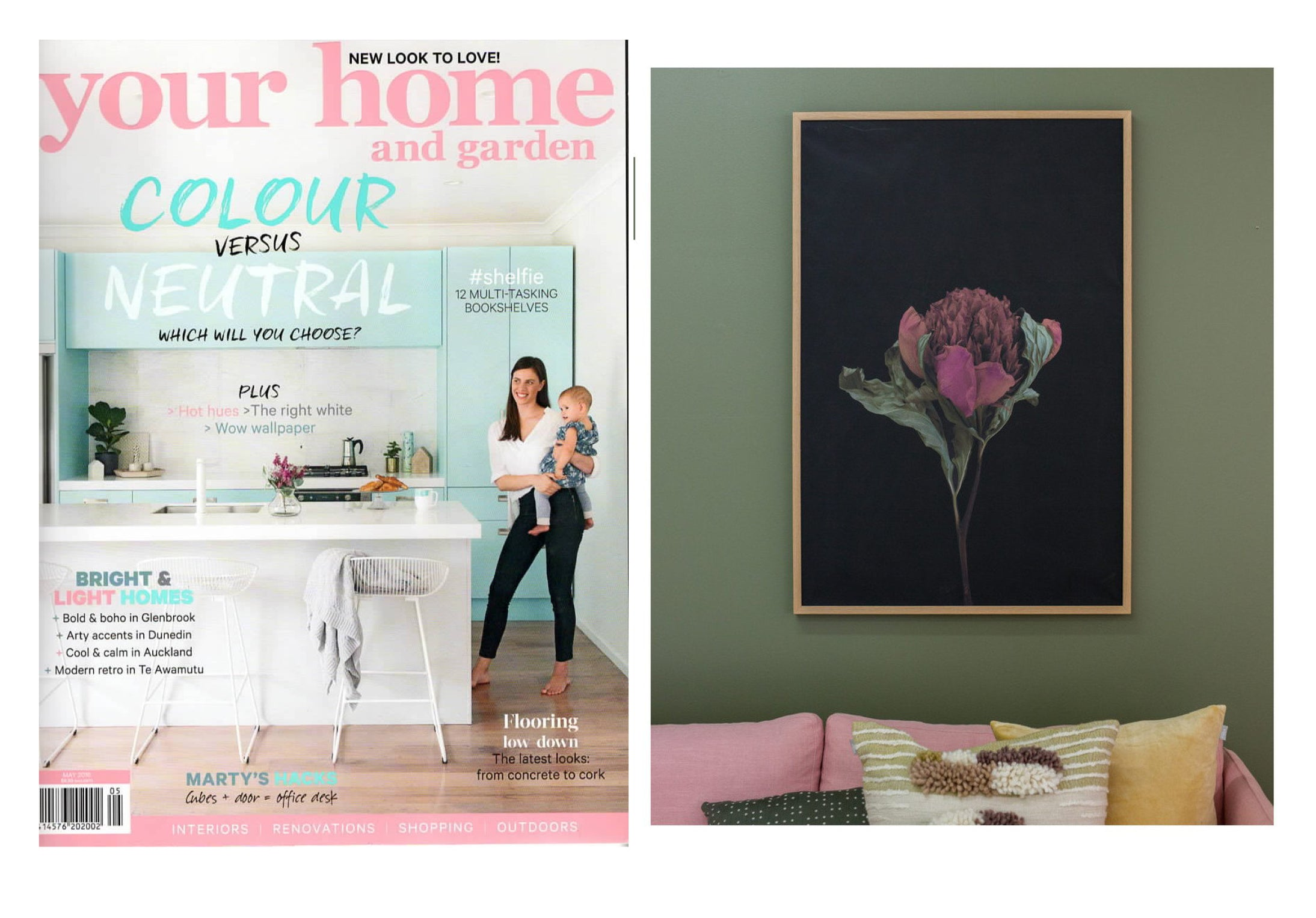 ONE LOUNGE, TWO WAYS - YOUR HOME & GARDEN MAGAZINE - MAY 2016