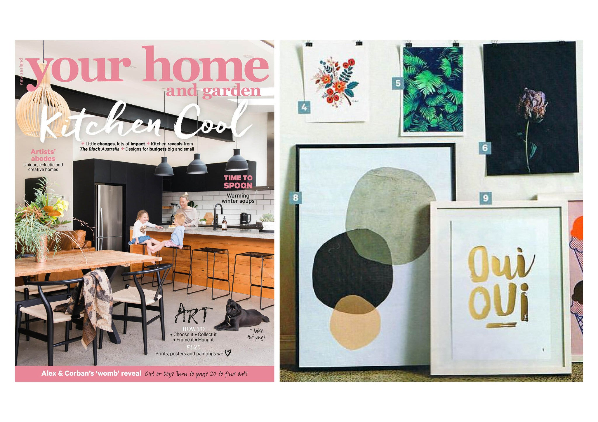WALL ART ROUND UP - YOUR HOME & GARDEN MAGAZINE JULY 2016