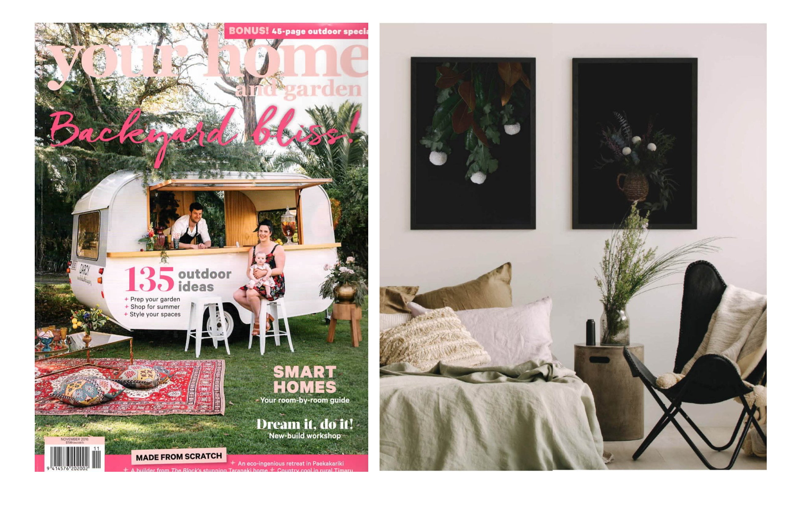 EARTHY BEDROOM - YOUR HOME & GARDEN - NOVEMBER 2016