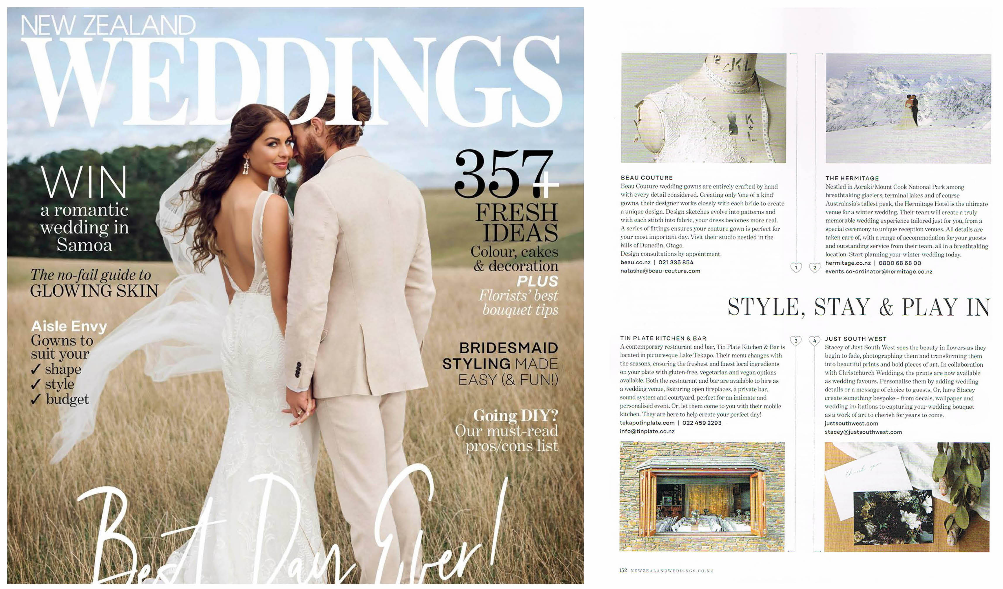 NZ WEDDINGS - WINTER ISSUE - 2018