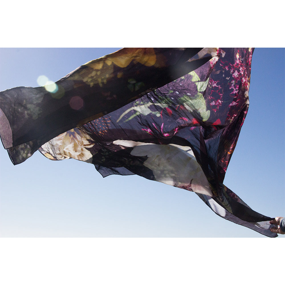 Silk Modal Scarf Bouquet