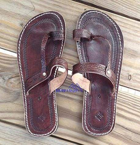 Sandal Moroccan Leather, Brown - MPW Plaza (R)
