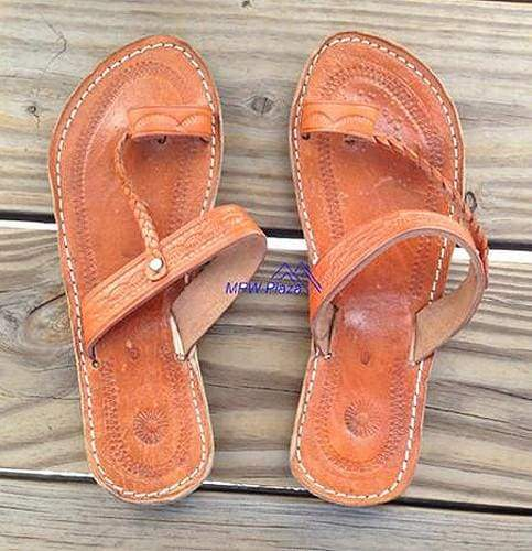 Sandal Moroccan Leather, Orange - MPW Plaza (R)