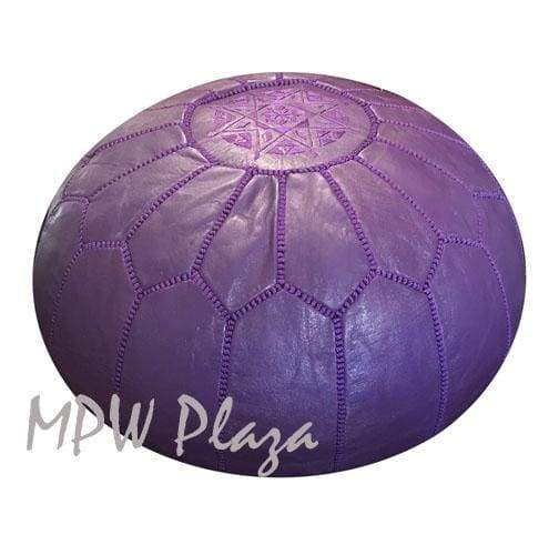 Dark Purple, Pouf Ottoman, Moroccan Pouf, Stuffed - MPW Plaza