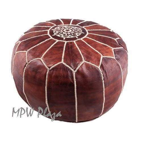 Light Grey, Moroccan Pouf Ottoman 14x20