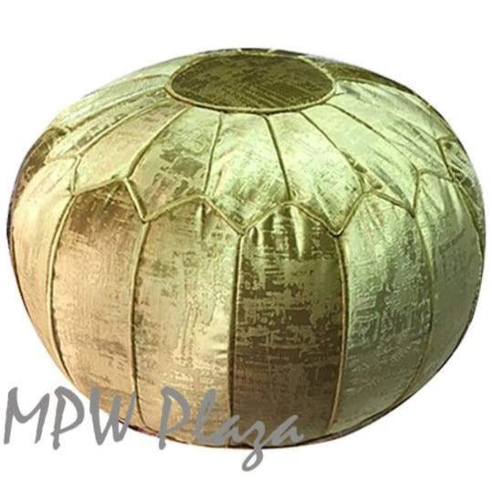 "Velvet Pouf - Royal Green 14""x 20"" - MPW Plaza (R)"
