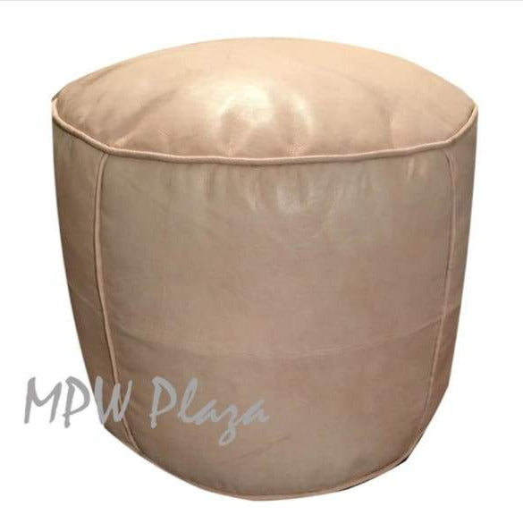 Brown Tobacco, Pouf Ottoman, Moroccan Pouf, Stuffed