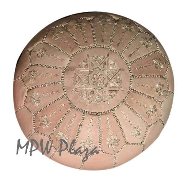 Full Arch Pouf, Metallic Bronze 14x20