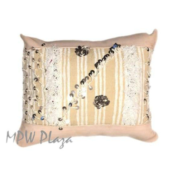 Stuffed Handira Leather Pillow - MPW Plaza