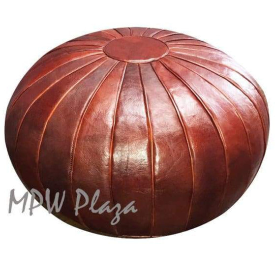 Square Pouf, Rustic Brown, 15x18