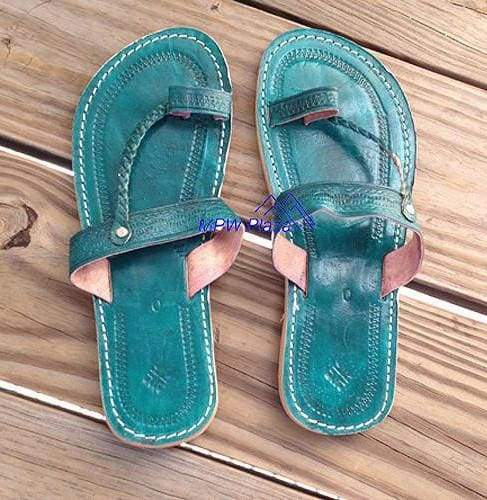 Sandal Moroccan Leather, Green - MPW Plaza (R)