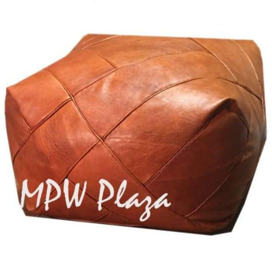 ZigZag, Light Tan, Square Pouf, Moroccan Pouf - MPW Plaza