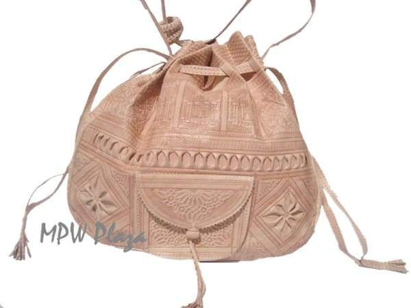 Moroccan Leather clutch bag - Tan