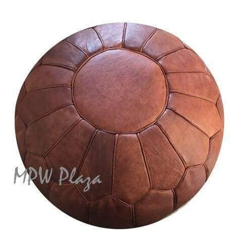 Retro Shell Pouf, Natural, 19x29