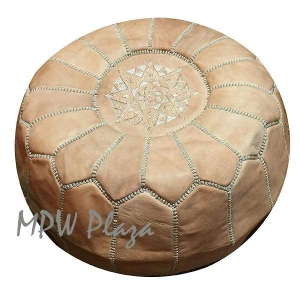Light Blue, Moroccan Pouf Ottoman 14x20