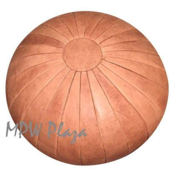Deco Pouf, Rustic Brown, 19x29