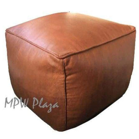 ZigZag Pouf, Natural, Square 16x26