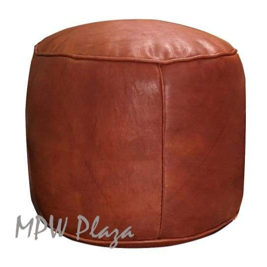 "Natural Tan, Rectangle Tabouret Pouf, Square Ottoman, 35""W x 15""H x 18""D"